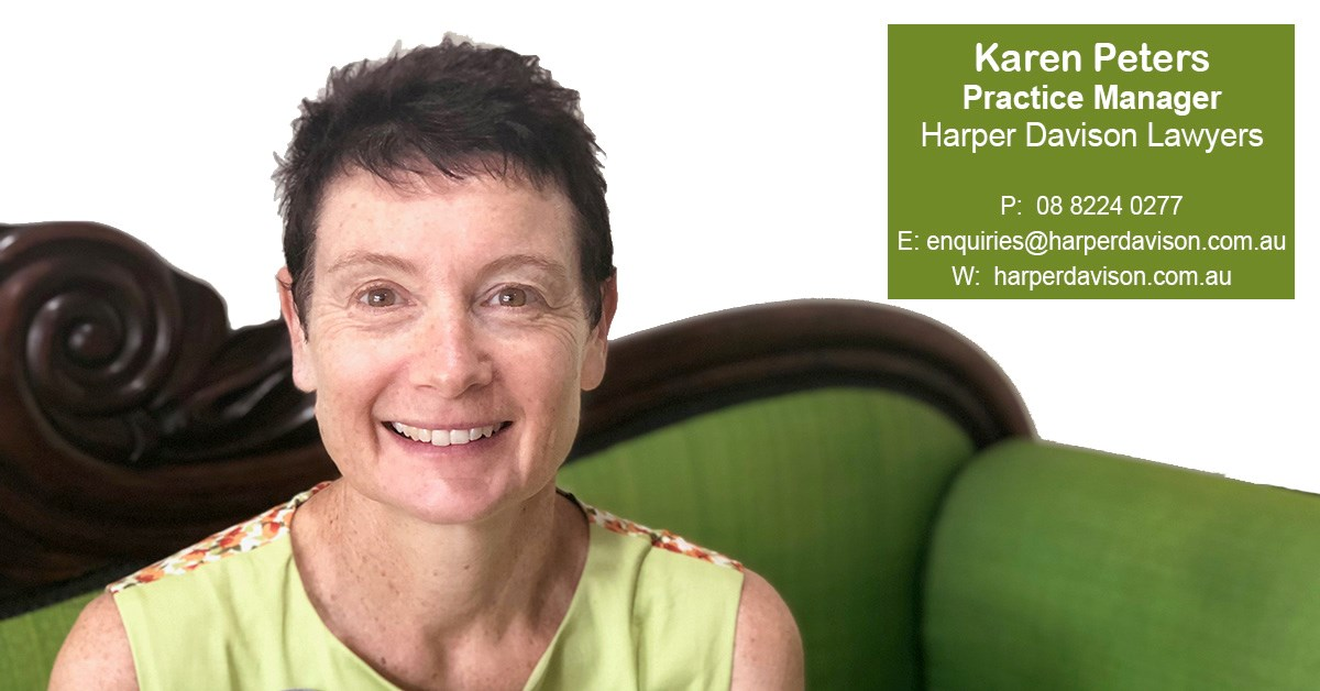 Karen Peters - Office Manager - Harper Davison Lawyers